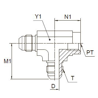 MTX Тройник проходной с внутр. резьбой. Сталь