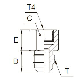 G4MXMO Переходник для манометра. Сталь