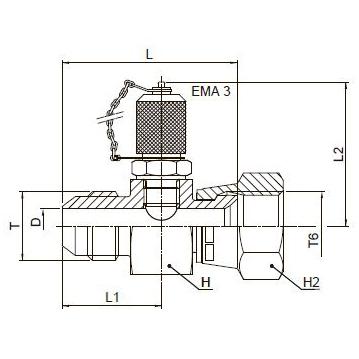 R6P4MX Переходник для контрольных точек. Сталь