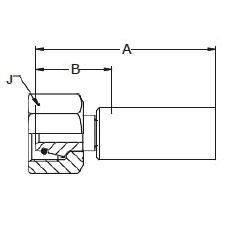 1C98X – Метрический внутренний вертлюжного соединения тяжелой серии с  кольцевым уплотнением