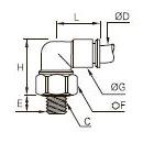 3189 Угольник вращающийся, наружная резьба BSPP и метрическая