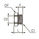 0178 Переходник, наружная/внутренняя резьба BSPP и метрическая