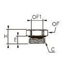 0222 Пробка с внутренним шестигранником, наружная резьба BSPP и метрическая