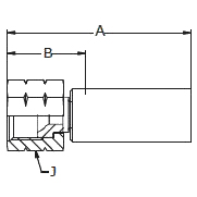 1068X – Внутренний вертлюжного соединения по стандарту JIC