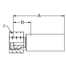 1078X – Внутренний вертлюжного соединения по стандарту NPSM С ниппелем из нержавеющей стали