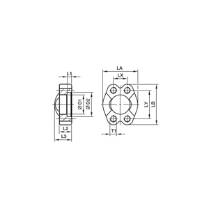 FUSM Фланцевые крепления SAE с метрич. резьбовыми отверстиями