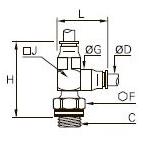 3293 Тройник ввертный с боковым отводом, наружная метрическая резьба