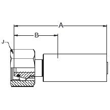 1C9KX – Метрический внутренний вертлюжного соединения тяжелой серии с кольцевым уплотнением