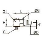 3218 «Банджо» с одним выходом, наружная метрическая резьба