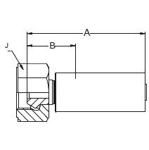 192KX – Внутренний вертлюжного соединения по стандарту BSP (конус 60°)