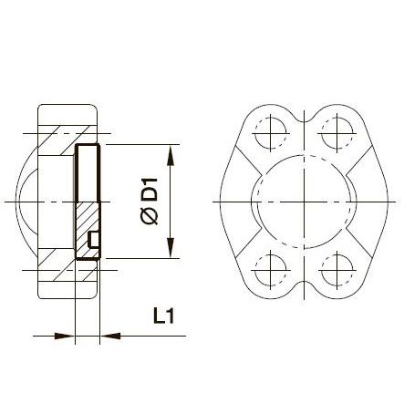 PMQ Плоская заглушка под крышку с фланцем