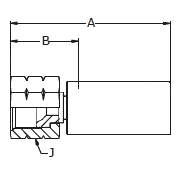 1068X / 606LX – Внутренний вертлюжного соединения по стандарту JIC