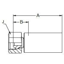 1928X / 192LX – Внутренний вертлюжного соединения по стандарту BSP (конус 60°)