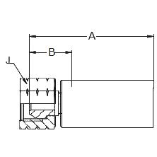 1078X – Внутренний вертлюжного соединения по стандарту NPSM