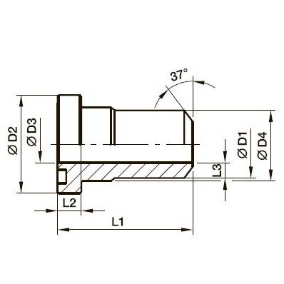 PSFA-B Фланцевый переходник прямоугольный (сварка встык)*