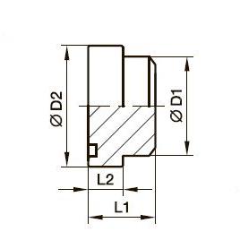 PSFP Заглушка прямоугольного фланца*