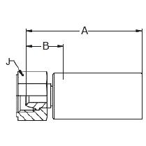 1U08X – Внутренний вертлюжного соединения по стандарту BSP (сферический)