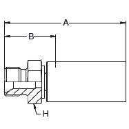 13B8X / 13BNX – Наружный по стандарту BSP