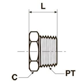 HP Заглушка с шестигранной головкой. Нерж. сталь