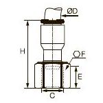 6352 Компрессионный фитинг плоского типа, внутренняя резьба BSPР Дюйм.