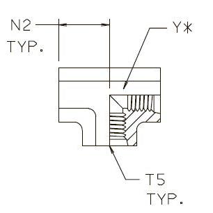 G5G5JG5 Тройник с внутренней прямой резьбой