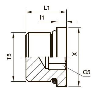 HP5ON Заглушка с внутренним шестигранником. Нерж. сталь