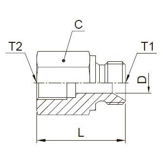 G4MK4 Соединитель с внутренней резьбой. Нерж. сталь