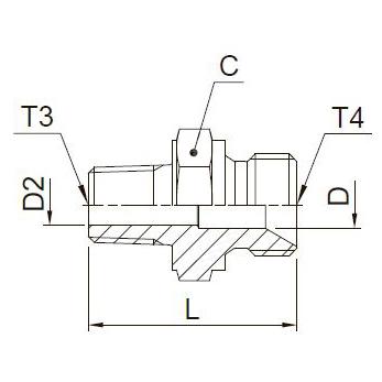 F3MK4 Ввертной переходник. Нерж. сталь