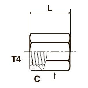 GG44M Переходник с внутренней резьбой. Нерж. сталь