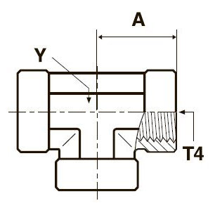 MMO444M Тройник с внутренней резьбой