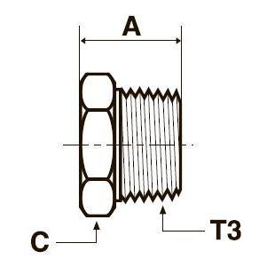 HP3M Заглушка с шестигранной головкой. Нерж. сталь