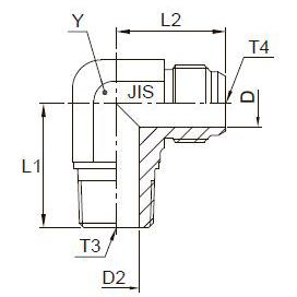 C3T4 Переходник угловой с наружной резьбой