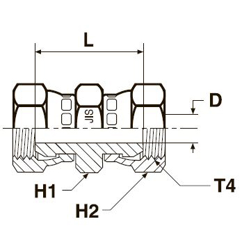 HP46 Соединитель со стяжными гайками