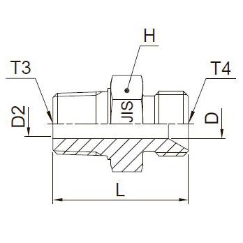 F3P4 Переходник. Нерж. сталь