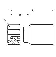 1C9BS – Метрический внутренний вертлюжного соединения тяжелой серии с кольцевым уплотнением