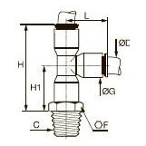 6503 Тройник с боковым отводом, наружная резьба BSPT