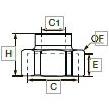 6355 Соединитель для труб разного сечения, внутренняя резьба BSPP