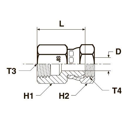 G63P4 Переходник с внутренней резьбой и стяжной гайкой