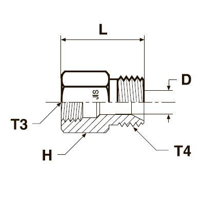 G3P4 Переходник с внутренней и наружной резьбой