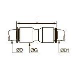 6306 Межтрубный соединитель равного и разного сечения