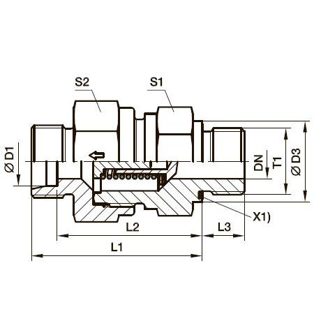 RHV-M-ED Обратный клапан
