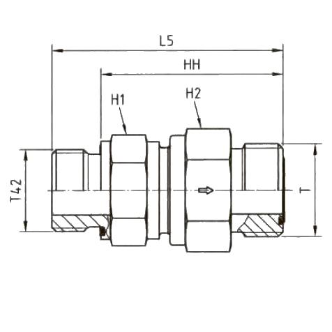 RHV42EDMLOS Обратный клапан