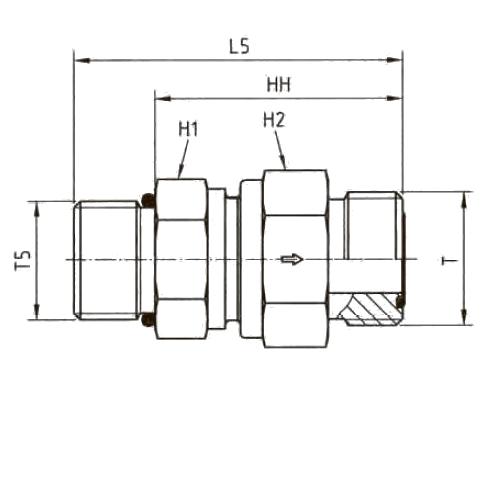 RHV5OMLOS Обратный клапан