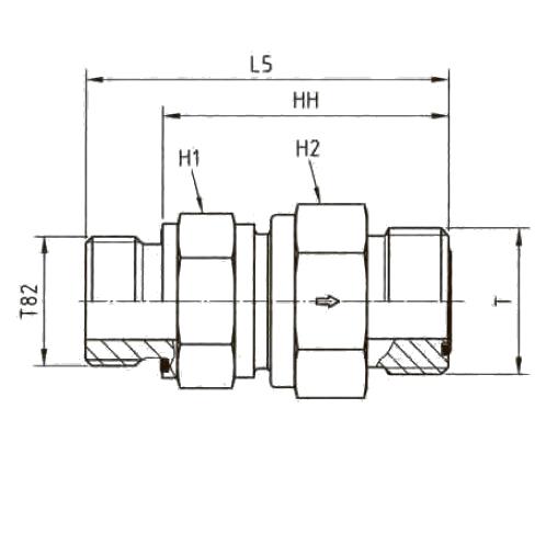 RHV82EDMLOS Обратный клапан