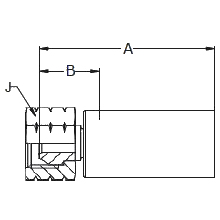1078X – Внутренний вертлюжного соединения по стандарту NPSM, под 60°
