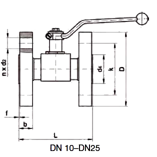 KH-B5V-S Шаровой кран с фланцевым соединением DIN EN 1092-1