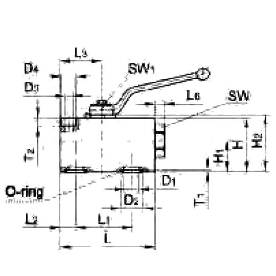 KHBLOCK двухходовые шаровые краны для блочных конструкций