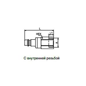 Ниппели - с плоским уплотнением; латунь/сталь