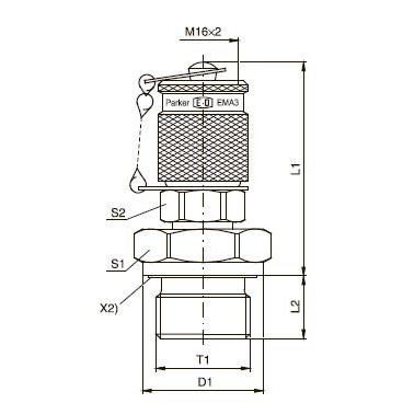 EMA3 Контрольная точка с резьбовым соединением M 16х2