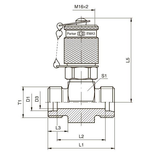 GMA3 Контрольная точка с резьбовым соединением M 16х2